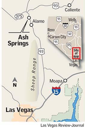 Ash Springs map Las Vegas Review-Journal