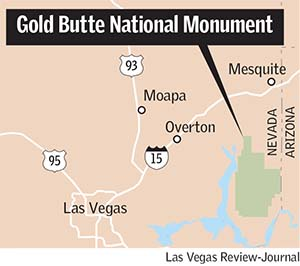 Gold Butte National Monument map