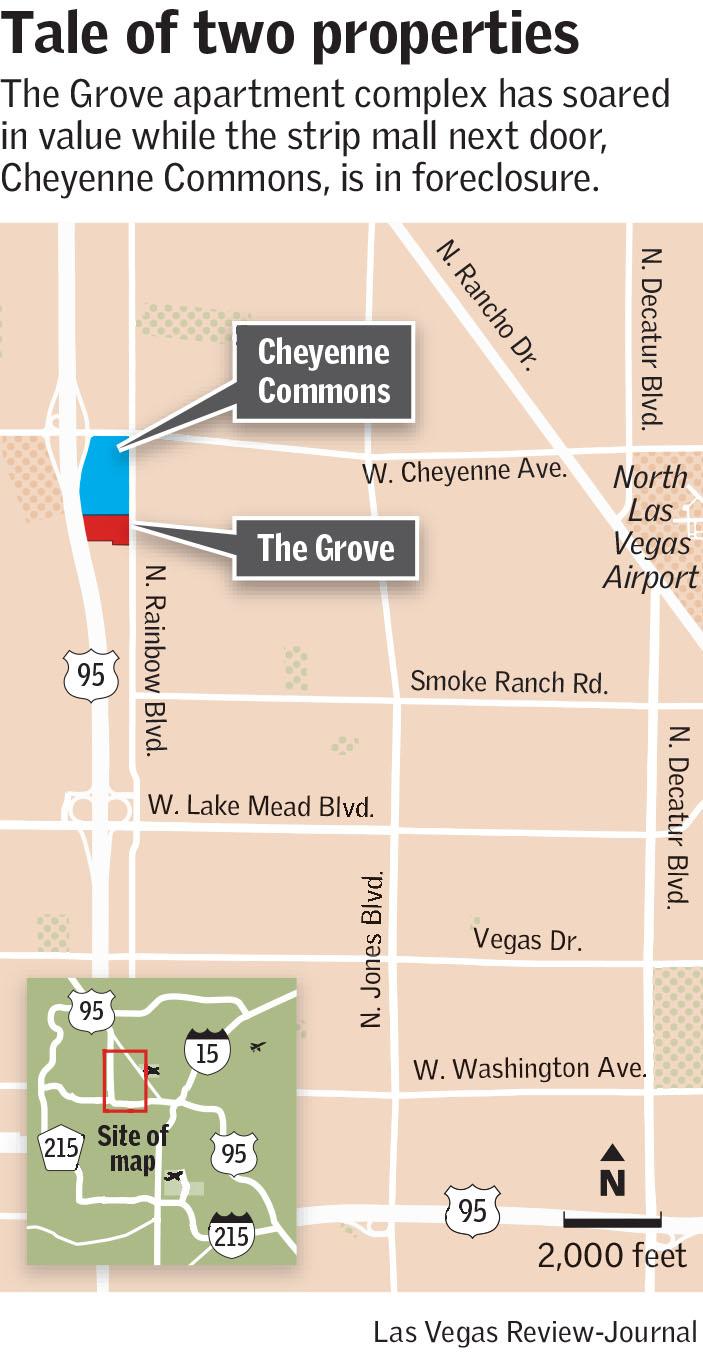 Las Vegas' commercial real estate market shows sharp disparities