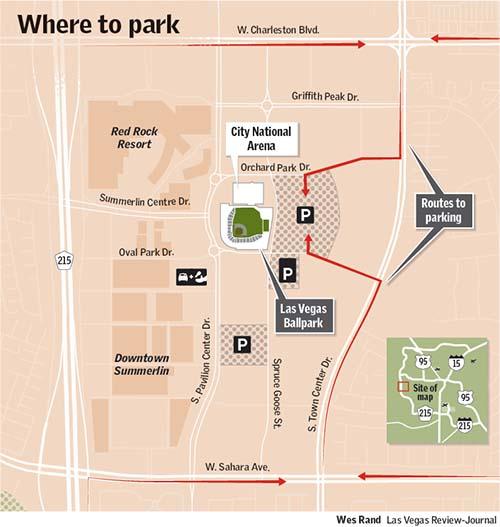 Las Vegas Ballpark parking map
