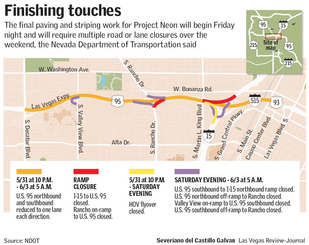 Las Vegas traffic (Severiano del Castillo Galvan/Las Vegas Review-Journal)