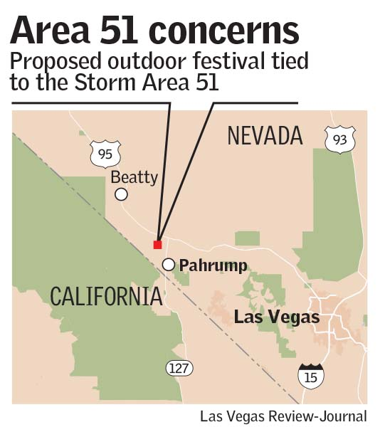 Lincoln, Nye counties think 'Storm Area 51' event no laughing matter