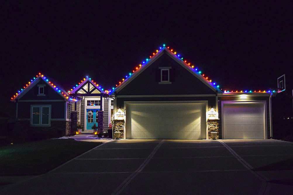 LED House Multi Color