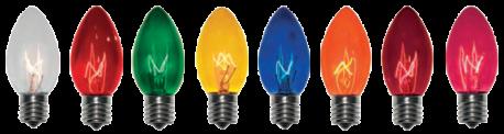 Incandescent Bulb Colors