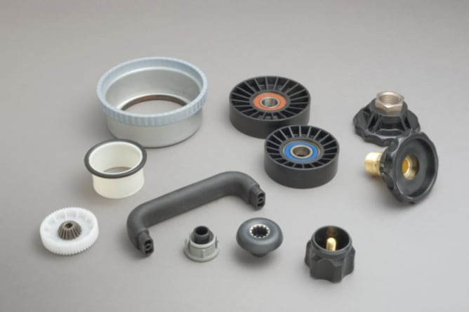 moulded plastic electronics components
