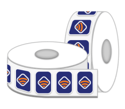 Rounded Square Label Rolls