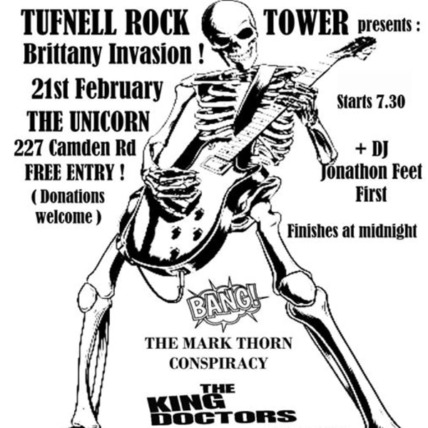 TufnellRockTower: TheKingDoctors &TheRemingtones (Brittany)+more at The Unicorn promotional image