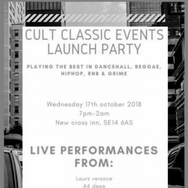 Cult Classic Events Launch Party at New Cross Inn promotional image