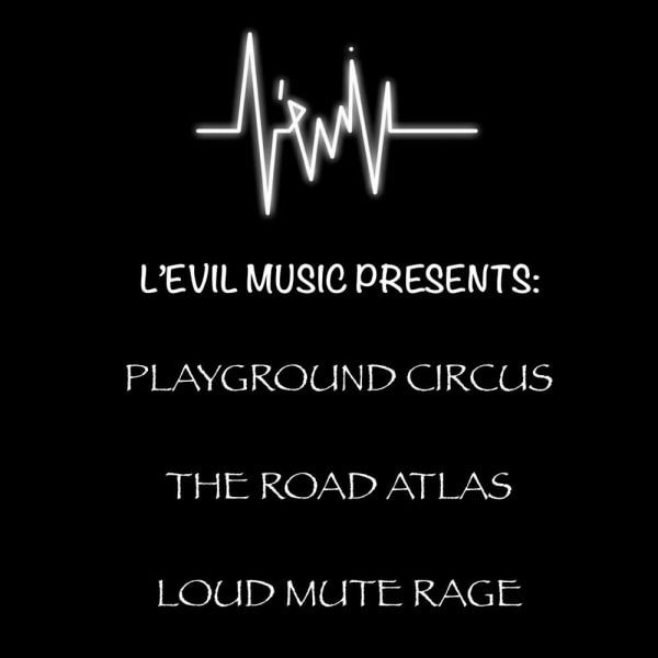 L'Evil Music Presents: Playground Circus, Road Atlas + more at The Fiddler's Elbow promotional image