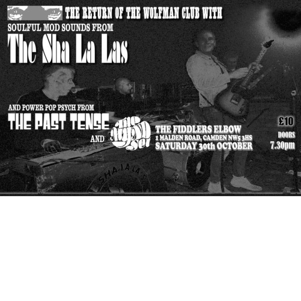 The Sha La Las, The Past Tense & The Mynd Set at The Fiddler's Elbow promotional image