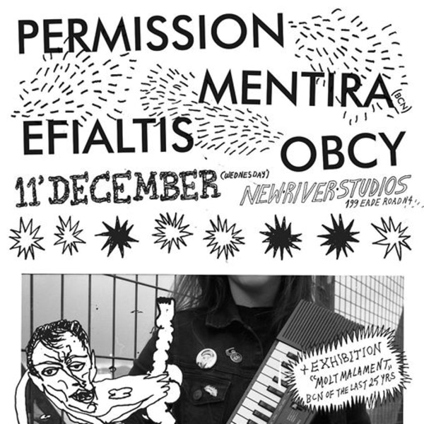 Permission, Mentira (BCN), Efialtis, Obcy at New River Studios promotional image