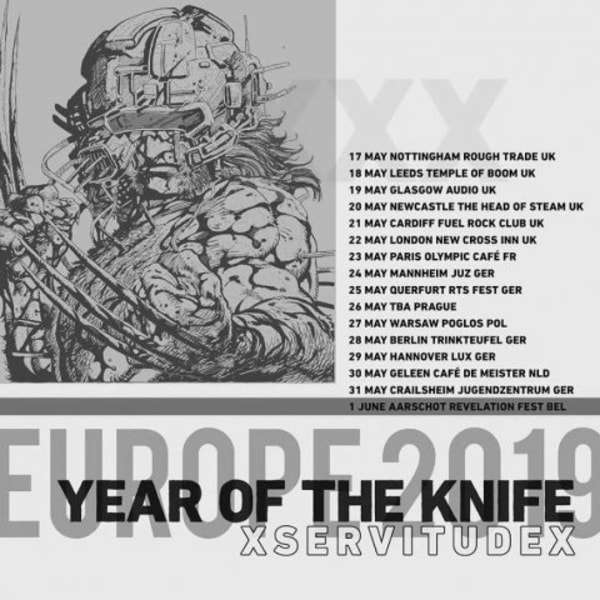 Year Of The Knife + xServitudex at New Cross Inn promotional image