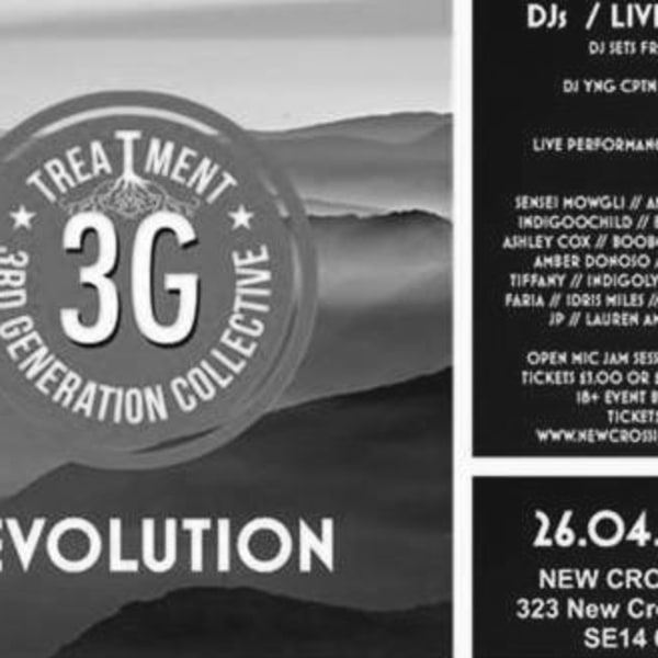 3G Treatment Revolution at New Cross Inn promotional image