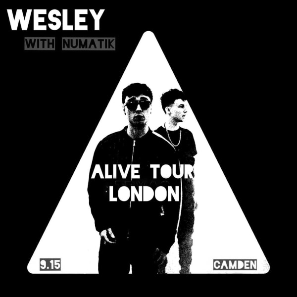 WESLEY: The Alive Tour - London at The Fiddler's Elbow promotional image