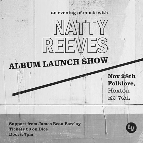 Natty Reeves Album Launch (with James Beau Barclay) at Folklore promotional image
