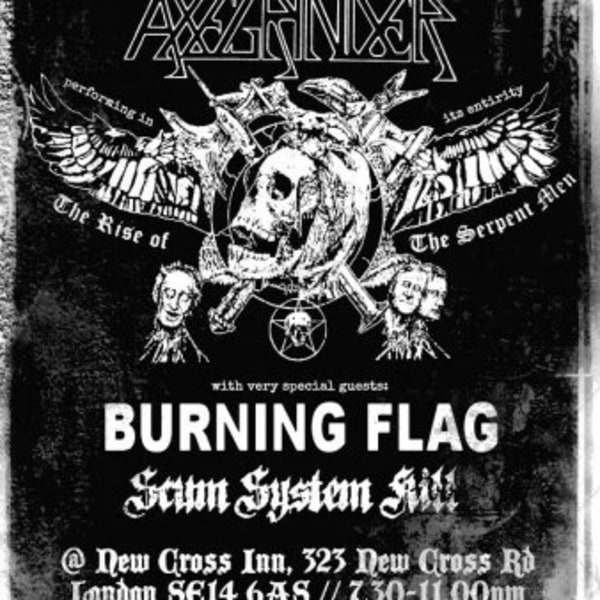 SLS present: Axegrinder / Burning Flag / Scum System Kill at New Cross Inn promotional image