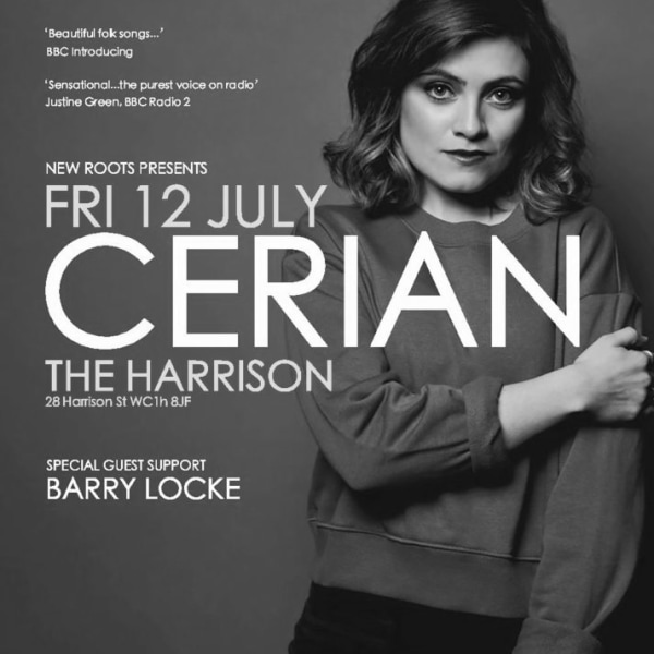 New Roots: Cerian + support Barry Locke at The Harrison promotional image