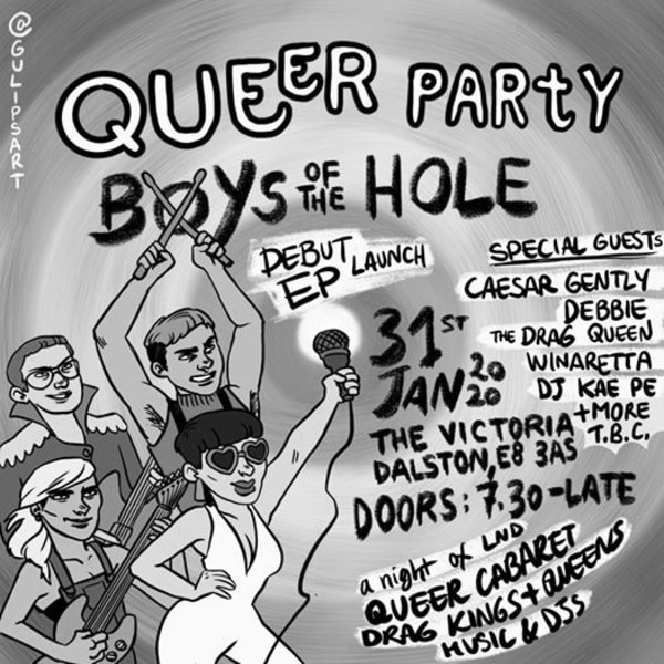 Queer Party!!! Boys Of The Hole // Winnaretta // Cesar Jently at The Victoria promotional image