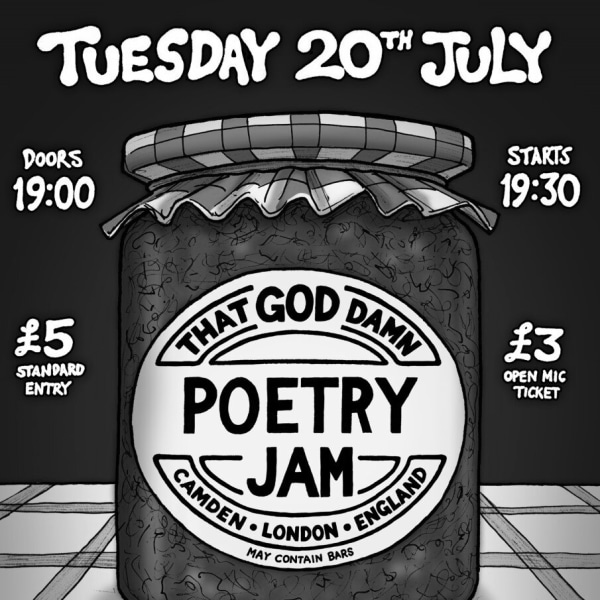 POETRY JAM NIGHT at The Fiddler's Elbow promotional image