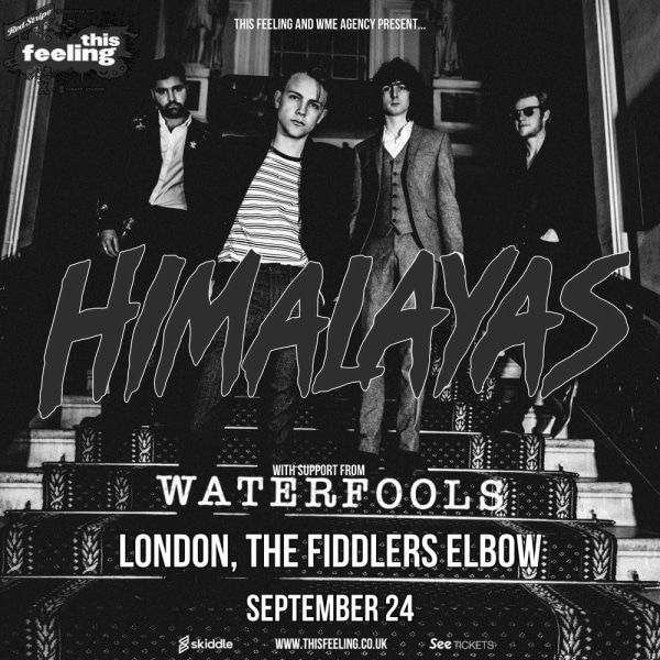 Himalayas plus support Waterfools at The Fiddler's Elbow promotional image