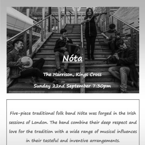 Folk and Roots Presents: Nóta at The Harrison promotional image