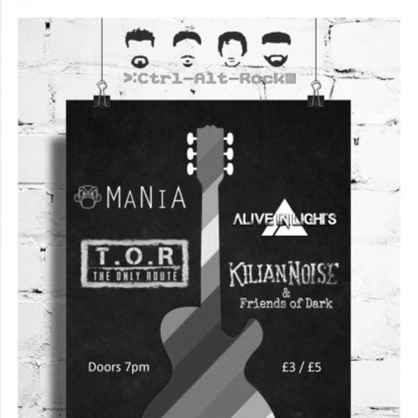 MaNiA / Alive in Lights / TOR / Kilian Noise at New Cross Inn promotional image
