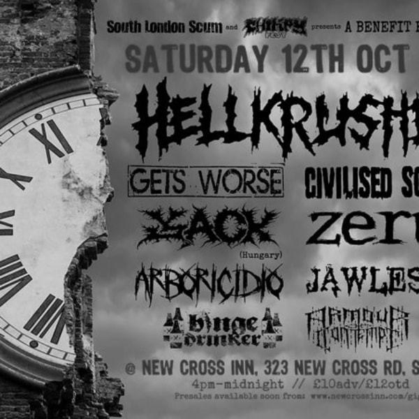 SLS presents: an Olivia benefit - Hellkrusher and friends at New Cross Inn promotional image