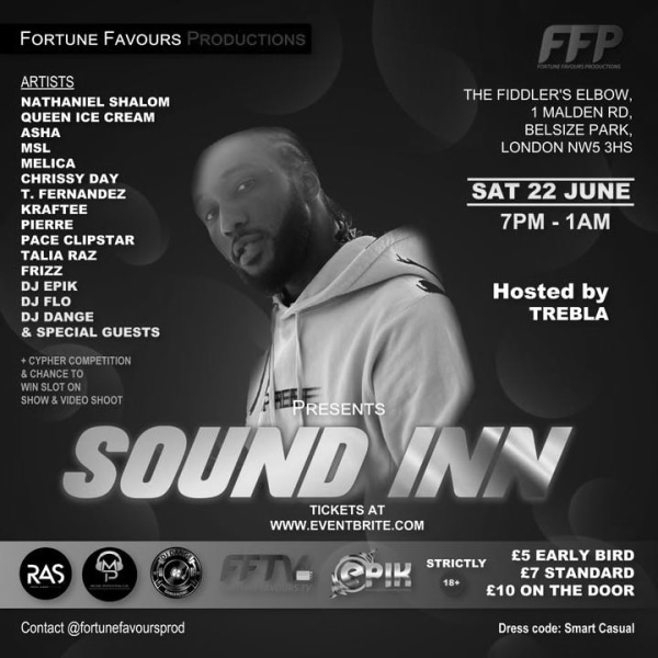 FORTUNE FAVOURS PRESENTS  - SOUND INN at The Fiddler's Elbow promotional image