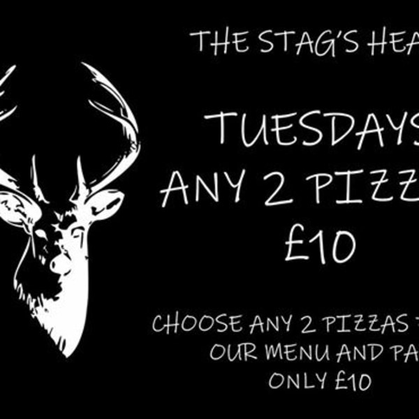 Pizza Tuesday at The Stag's Head promotional image