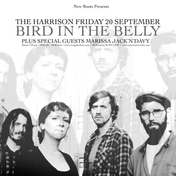 New Roots: Bird In The Belly plus support Marisa Jack & Davy at The Harrison promotional image