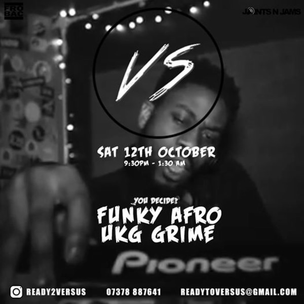 Versus - Ukg vs Grime at The Old Blue Last promotional image