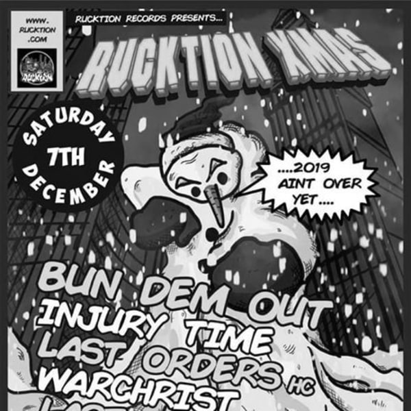 Rucktion Records Presents: Bun Dem Out/Injury Time + More at The Unicorn promotional image