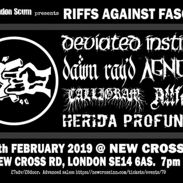 Riffs Against Fascism at New Cross Inn promotional image