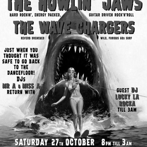 Weirdsville - The Howlin' Jaws + The Wave Chargers at The Fiddler's Elbow promotional image