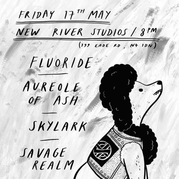 Fluoride / Aureole of Ash / Skylark / Savage Realm at New River Studios promotional image