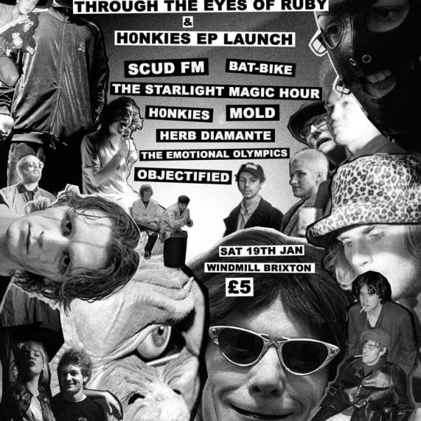 Honkies EP launch & Through The Eyes Of Ruby exhibition   at Windmill Brixton promotional image