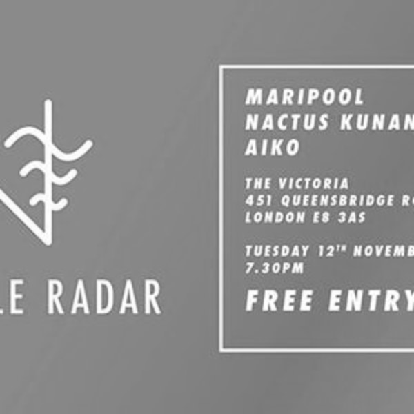 SLR Presents: Nactus Kunan, Maripool & Aiko at The Victoria promotional image