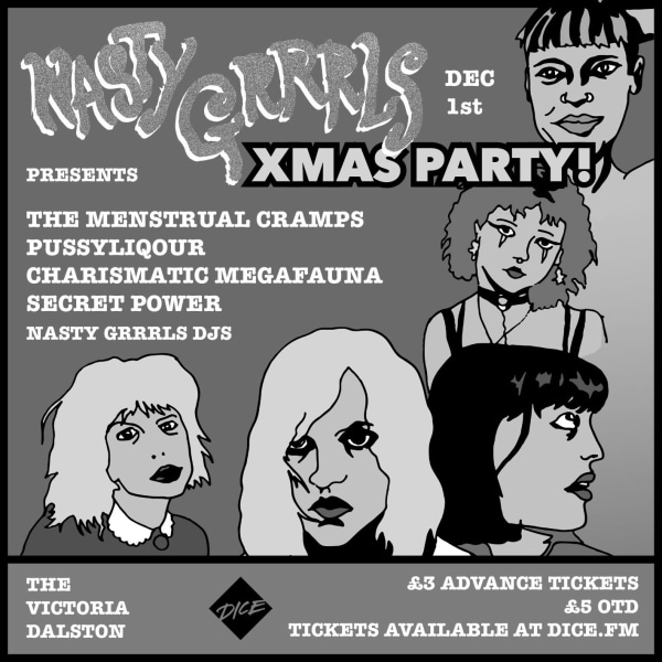 Nasty Grrrls Xmas Party at The Victoria promotional image
