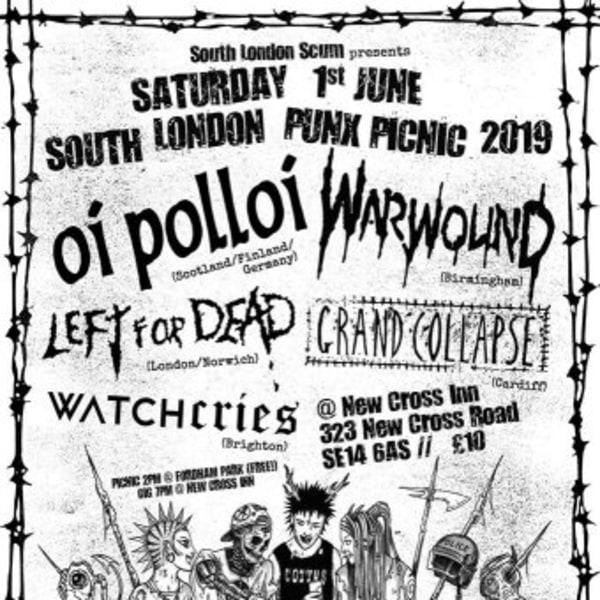 South London Punx Picnic 2019 at New Cross Inn promotional image
