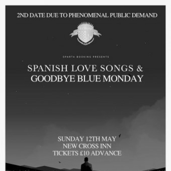 Spanish Love Songs - 2ND DATE at New Cross Inn promotional image