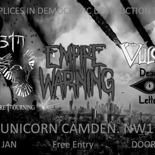 Dead Before Morning / Empire Warning / Vulcan / Dead Letter at The Unicorn promotional image