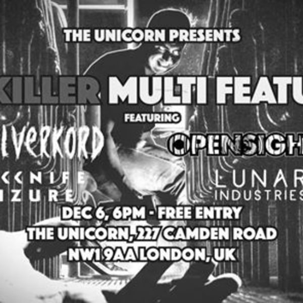 Silverkord, Jackknife Seizure, Opensight, Lunar Industries at The Unicorn promotional image