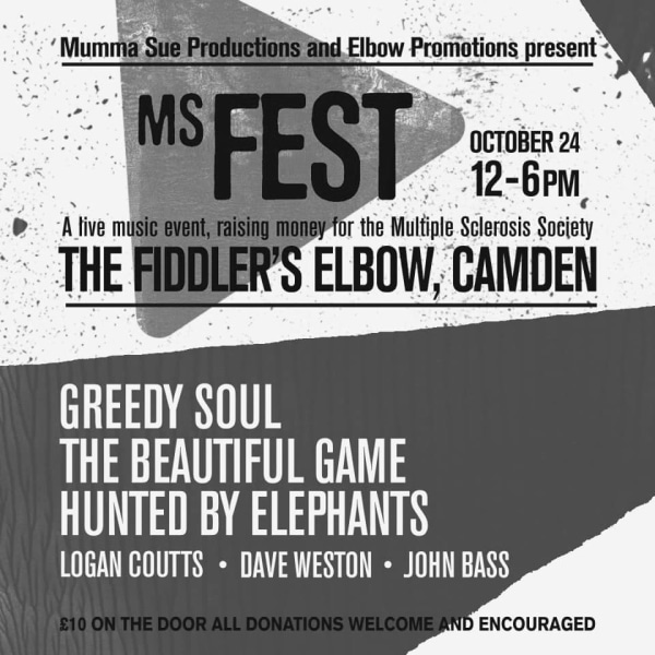 Multiple Sclerosis Society Charity Fundraiser *DAYTIME EVENT* at The Fiddler's Elbow promotional image