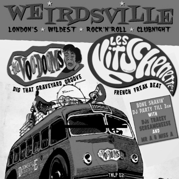 WEIRDSVILLE - Les Kitschenette's (France) + The Voo-Dooms Debut Album Release Shindig! at The Fiddler's Elbow promotional image
