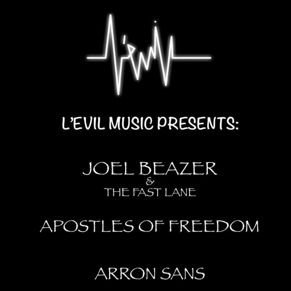 L'Evil Music Presents: The FAST LANE, Apostles of Freedom, Arron Sans at The Fiddler's Elbow promotional image