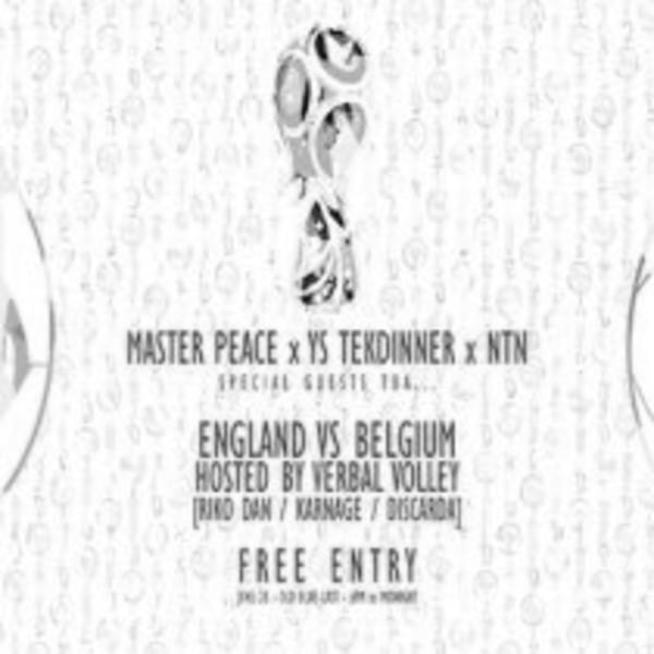 VERBAL VOLLEY: ENGLAND Vs. BELGIUM at The Old Blue Last promotional image