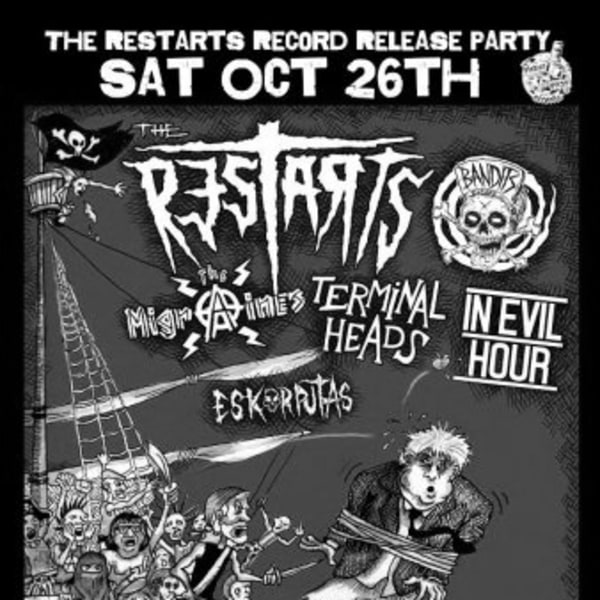 The Restarts Record Release Party at New Cross Inn promotional image