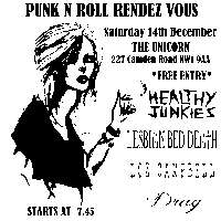 Punk n Roll Rendez Vous #71 - Free Entry - 5 bands + DJ Ramone at The Unicorn promotional image