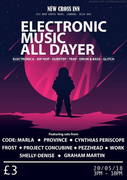 Electronic Music All Dayer at New Cross Inn promotional image