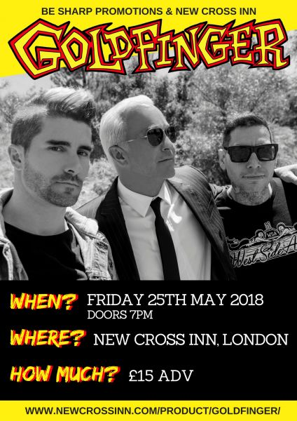Goldfinger *SOLD OUT* at New Cross Inn promotional image